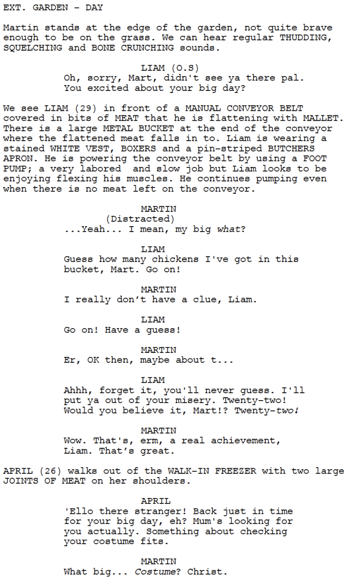 Butcher and Sons (Script Extract)
