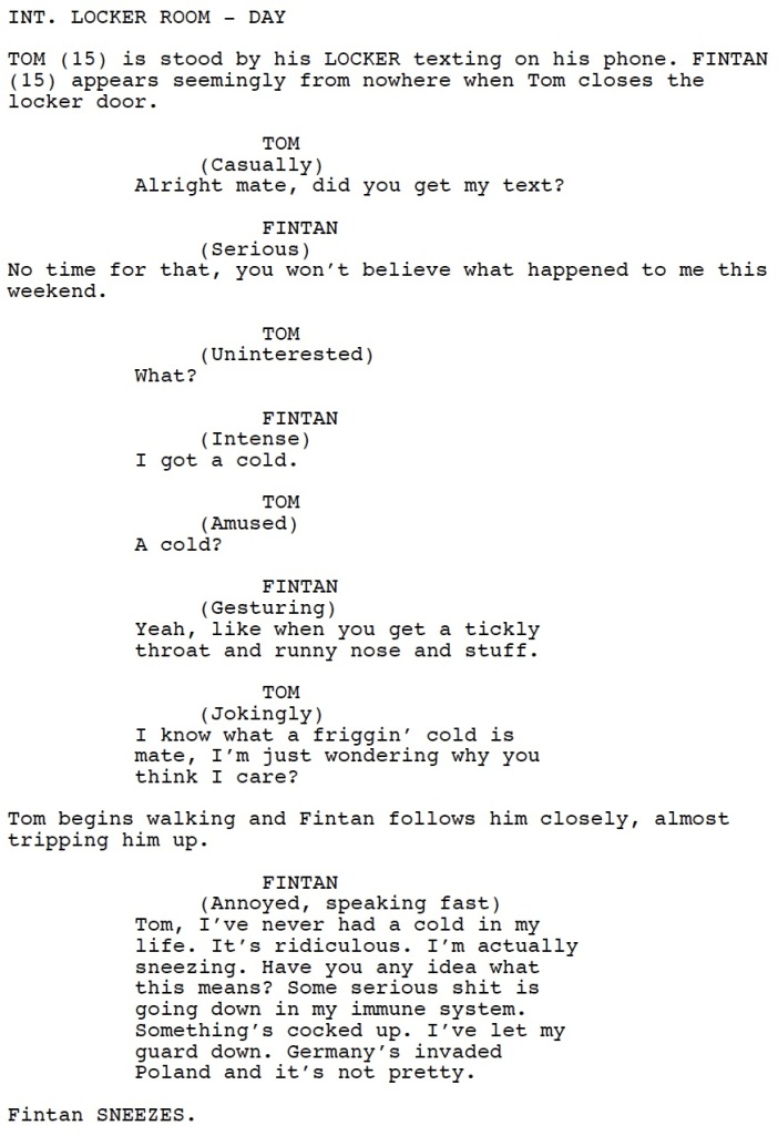 Catching A Cold (Script Sample)