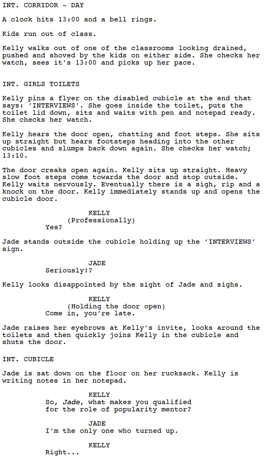 The Rules of Friendship Script Extract